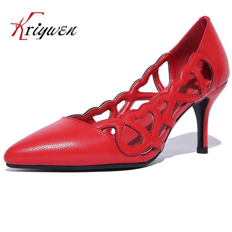 2017 Spring pumps for office women shoes natural leather shoes pointed toe party dating stiletto hollow footwear sexy lady pumps pepper schwartz dating after 50 for dummies
