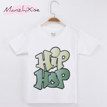 2019 Popular Children T-shirt Hiphop Street  Dance Letter Top Cotton Child Shirts Kids Boy Short T Shirt Baby Girl Clothes Brand