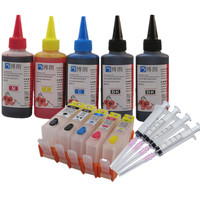 compatible for hp 364 refill ink kit 5 color cartridge for HP Photosmart C309a C309n C309g C310a C310b C310c C410b C510a C510c