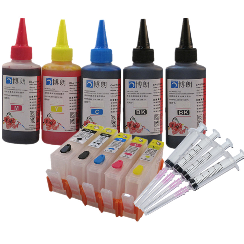 compatible for <font><b>hp</b></font> <font><b>364</b></font> refill ink kit 5 color cartridge for <font><b>HP</b></font> Photosmart C309a C309n C309g C310a C310b C310c C410b C510a C510c image