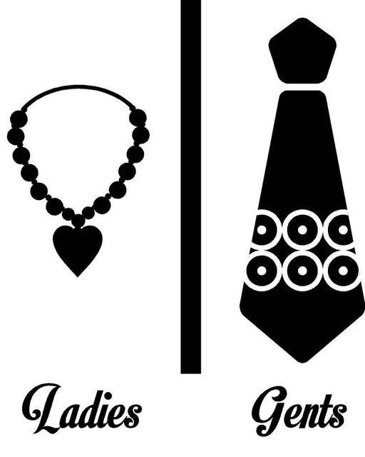Creative Washroom Door Sticker Necklace Ladies Tie Stand Gents Symbol Toilet Door Decor Bathroom Decals Male  sc 1 st  AliExpress.com & Creative Washroom Door Sticker Necklace Ladies Tie Stand Gents ...