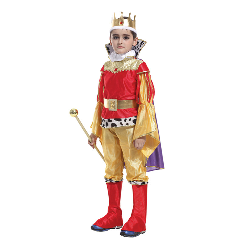 Halloween Deluxe costume for kids children Fantasia Infantil Carnival Purim Party fancy dress The King Prince boys  Cosplay
