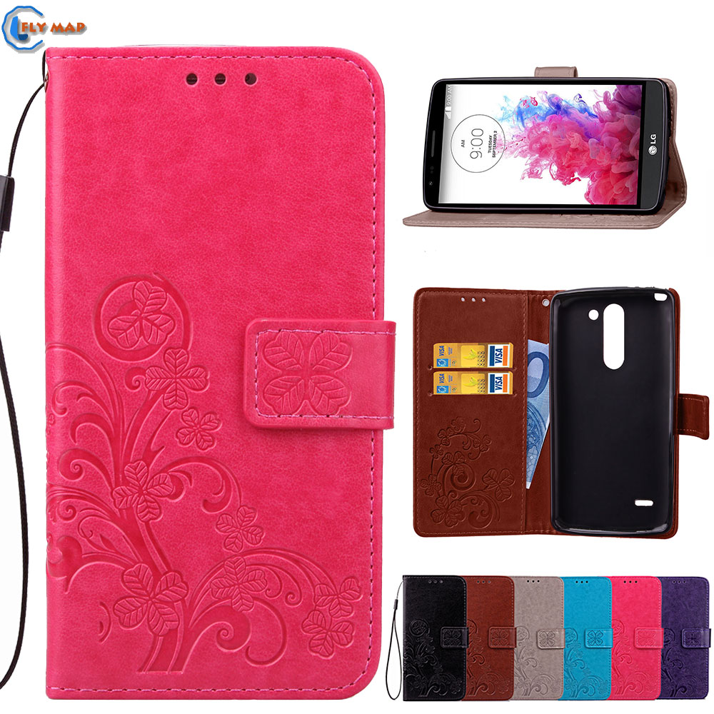 Flip Case For LG G3 Stylus D690N D690 Wallet Phone PU Leather Silicone Cover Coque G 3 D693N D693 N 55 Inch Capa