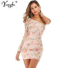 Женское винтажное платье миди на одно плечо с открытой спиной