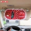Mulheres mocmoc menina bonito dos desenhos animados titular CD Car Veículos Sun viseira CD Saco de Armazenamento De Pacote de Cartões de ID De Crédito Titular Clipe Com