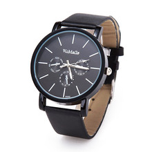 Famous Brand Womage 9690 Watches Fashion Dress Watches Leather Quartz Watch Trendy Men Wristwatches Relogio Masculino Clock Hour
