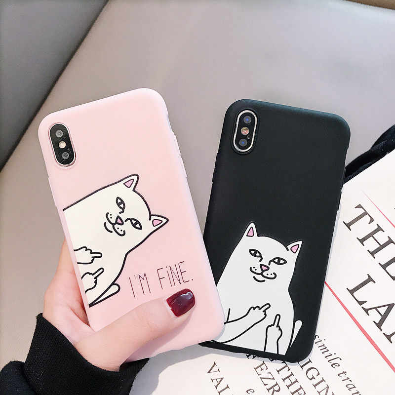 For Huawei P8 P9 P10 P20 Lite Plus P30 Pro 2017 P Smart 2019 Z Funny Cat Silicone Case For Huawei Mate 8 9 10 20 Lite Cover