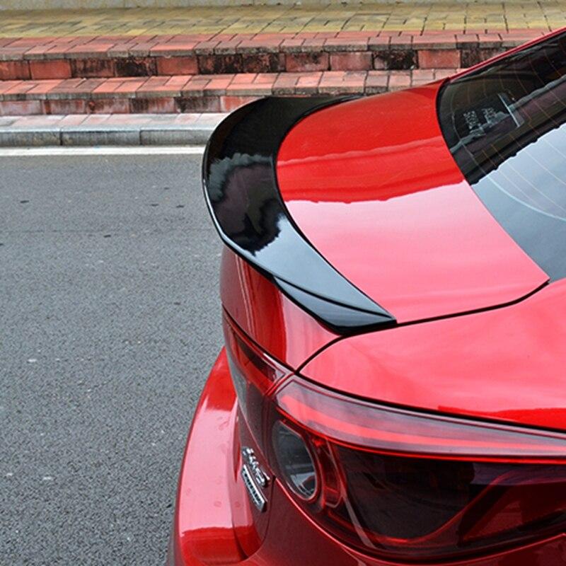 ABS en plastique apprêt couleur arrière boîte de queue aile spoiler pièces d'auto pour Mazda 3 Axela berline 4 portes 2014 2015 2016 2017