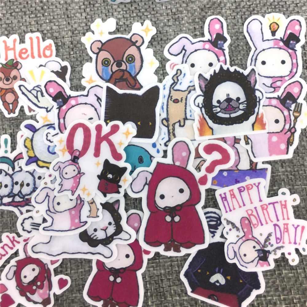 40 различных персонажей мультфильмов бумага Стикеры украшения DIY Ablum наклейки для дневника Скрапбукинг этикетки Kawaii Канцелярские