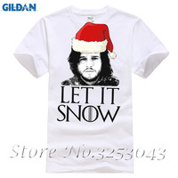 Let It Snow Men S Fitted T Shirt Funny Game Of Thrones Stark Christmas Top
