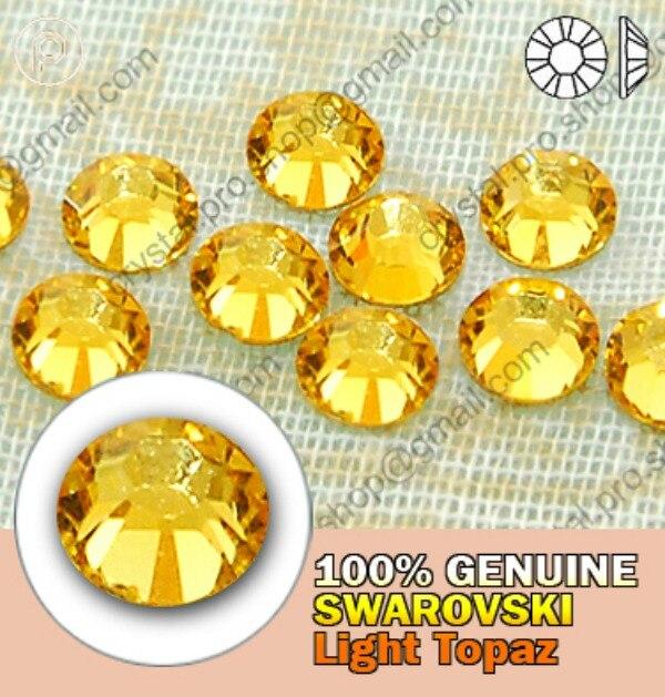ss5 GENUINE Swarovski Elements Light Topaz ( 226 ) 288 pcs ( NO hotfix  Rhinestone ) Round Glass 5ss 2058 FLATBACK Bulk Crystal-in Stones from Home    Garden ... 98a0f65f1cbf