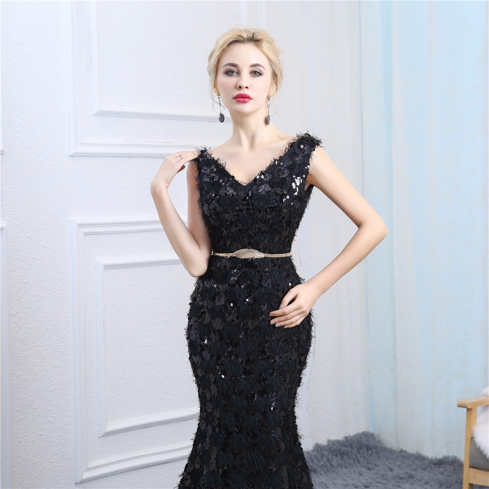 Evening Dress V Neck Abendkleider 2018 Design Sexy Mermaid V Neck ...