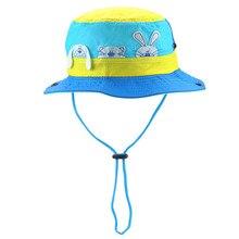 eccb5b36 Summer Unisex Kids Cartoon Mesh Sun Hats Boys Girls Outdoor Sports Bucket  Hats for Children Fishing