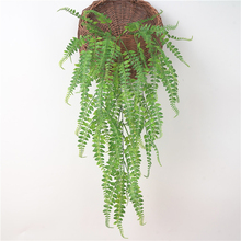 86cm 5 Forks Artificial Plastic Fern Grass Simulation Long Leaf Persian Wall Hanging Lifelike Leaves M18