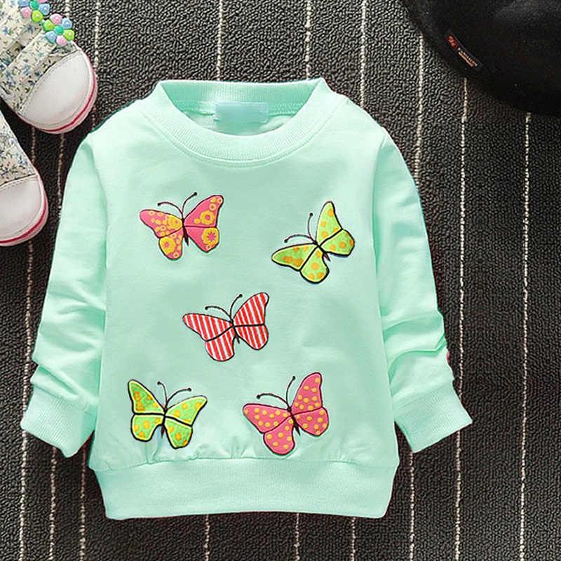 وصل حديثًا موضة خريف وشتاء 2019 سترة بناتي للأطفال مزودة بعدد 6 قطط بأكمام طويلة ملابس تي شيرت للأطفال