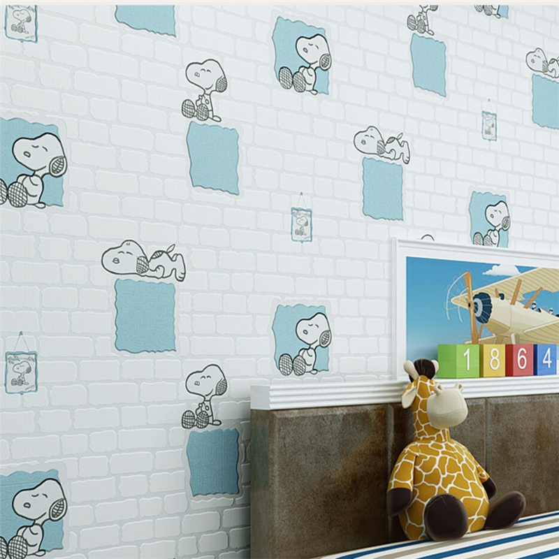 Beibehang wallpaper Simple and lovely living room bedroom children room 3D wallpaper puppy wall painting wallpaper for walls 3d боди и песочники idea kids песочник 23