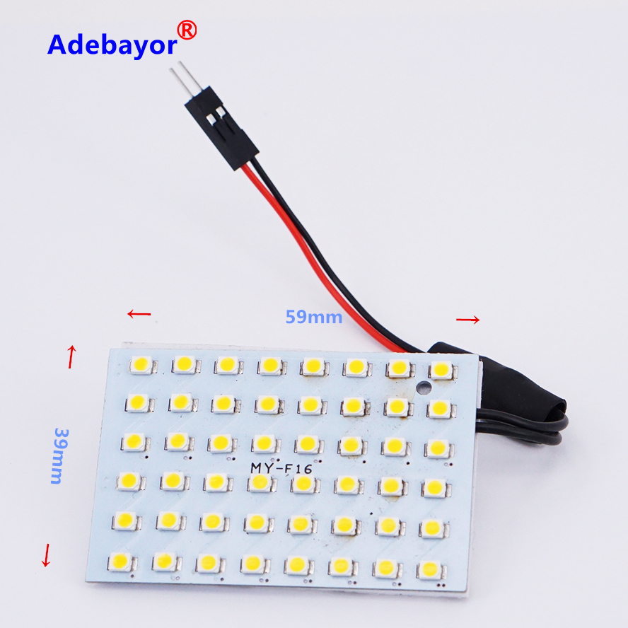 smd 48 led 24v room dome door car auto truck interior light bulb panel lamp warm white reading lights adapter t10 ba9s domein signal lamp from