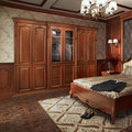New Design Unfinished Cheery Wood Wardrobe Cloth Wardrobe YG61410