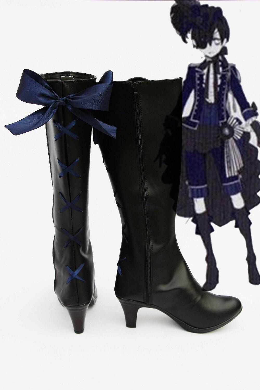 Kuroshitsuji Hand Painted Cosplay Canvas Shoes Black Butler Ceil Black Sneakers