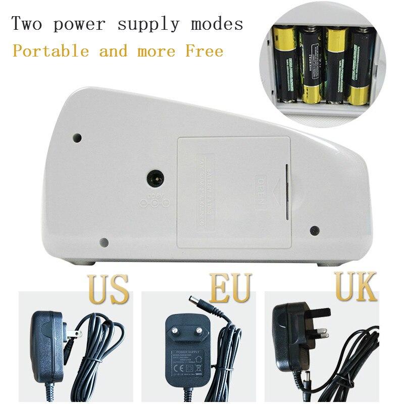 Machine à compter de billets billets billets, Mini-monnaie, portable, billet de billets, AC ou batterie pour faux monnaie, EU US UK - 2