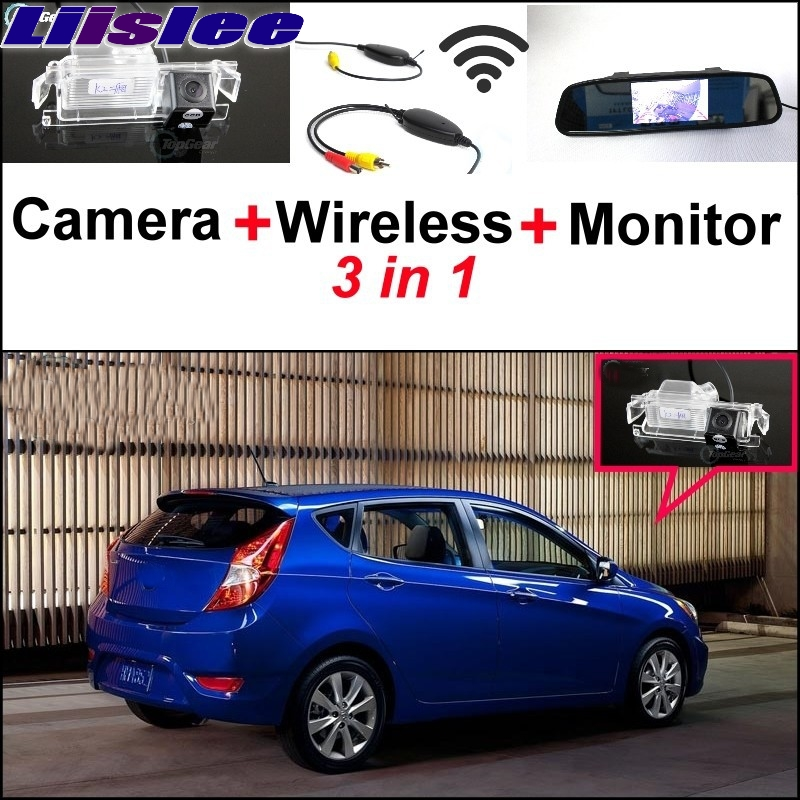 Liislee Special Camera Wireless Receiver Mirror Monitor Parking System For Hyundai Solaris Fluidic Verna Grand Avega Hatchback new restaurant equipment wireless buzzer calling system 25pcs table bell with 4 waiter pager receiver