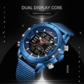 Naviforce мужские спортивные часы  водонепроницаемые цифровые кварцевые часы  лучший бренд  роскошные армейские военные часы из нержавеющей ст...