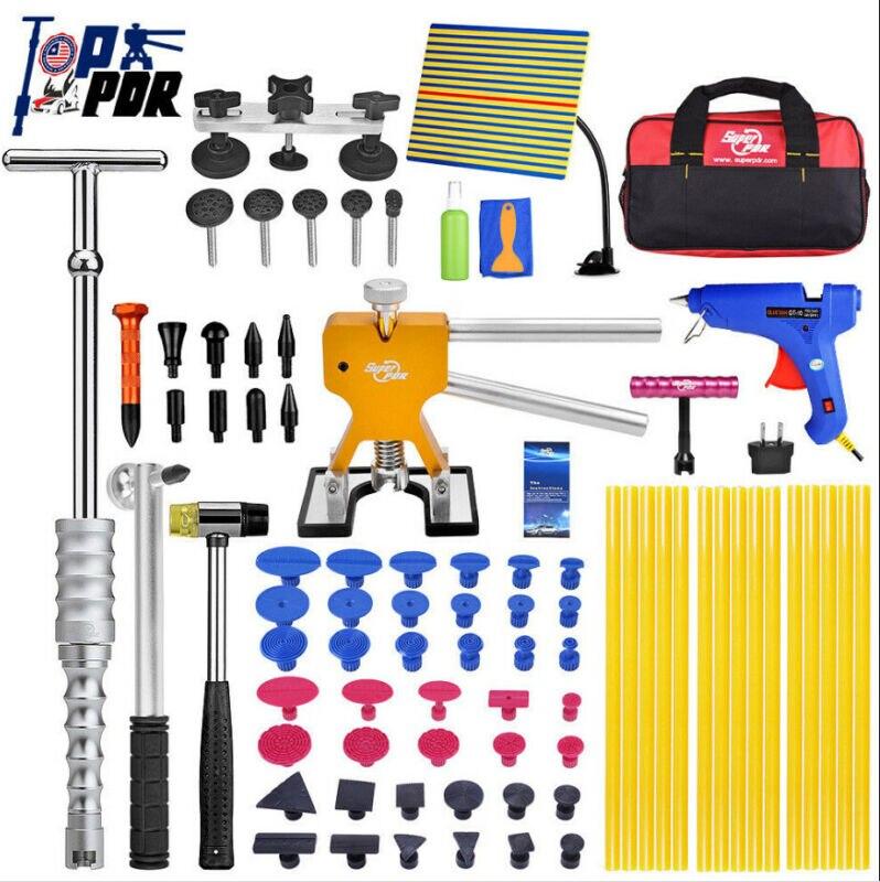 PDR инструменты для автомобиля, безболезненный Набор для ремонта вмятин, обратный молоток, подъемник для вмятин, набор инструментов для удал