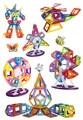 Aocoren 66 Unids Ladrillos Magnéticos Magformers Juguetes Similares Marca 3D Magnética Bloques de Construcción Para Niños Juguetes de Regalo