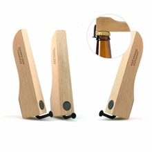 1pc Magnet Beer Bottle Coke Juice Beverages Opener Wooden Handle Wooden Nail Environmental Beer Beer Bottle Opener # 20