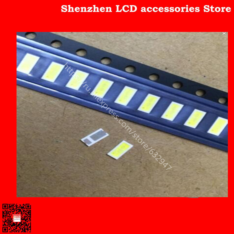 150PCS/Lot <font><b>4020</b></font> 6V SMD <font><b>LED</b></font> Beads Cold white 1W 150mA For TV/LCD Backlight