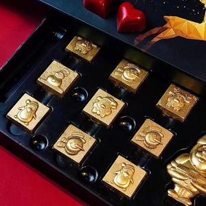Image 2 - 2019 新 21 空洞クリスマス正方形ハードポリカーボネート金型チョコレート 3D