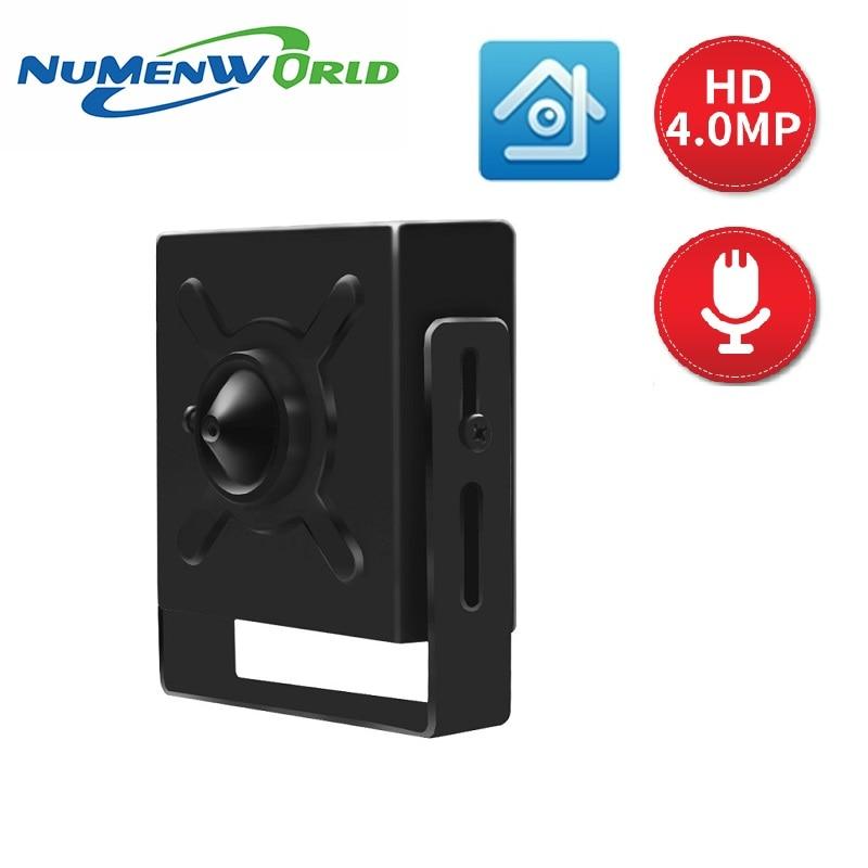 Mini caméra IP 4.0MP POE HD webcam CCTV vidéo caméra Audio ONVIF P2P RTSP caméra de Surveillance pour la maison intérieure