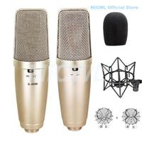 Xlr 3pin grande diafragma cardióide condensador microfone tlm 103 para palco vocal concerto cantar registro micwl mic|Microfones| |  -