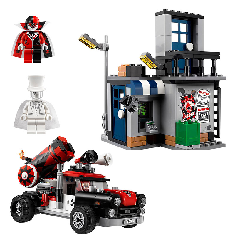 Super Heroes Batman Movie DC Harley Quinn Cannonball Attack 07097 Model Building Blocks  ...