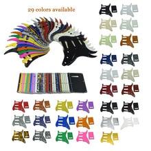 ST Strat Guitar Pickguard,Trem Cover and Screws SSS Various Colors