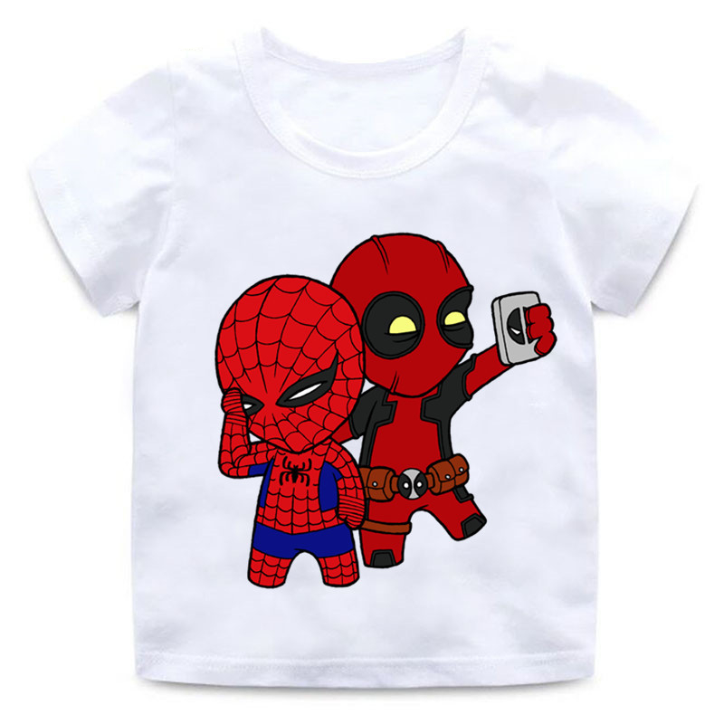 Deadpool Spiderman Superhero Funny Children T shirt Summer Tops Baby Boys/Girls T shirt Kids Clothes,HKP2407|T-Shirts| - AliExpress