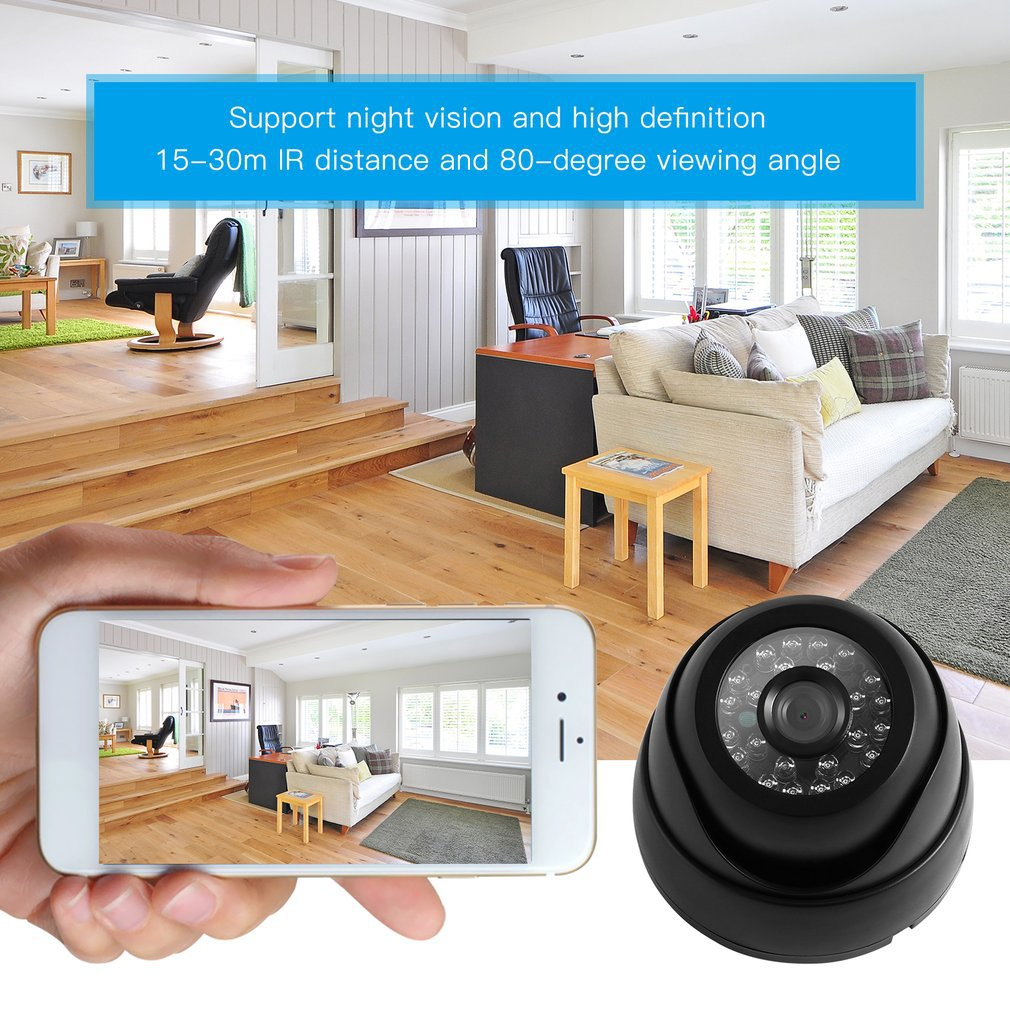LESHP Home Security 1/3'' 1200TVL <font><b>24</b></font> LED Lights Night Vision Waterproof 3.6mm Lens Outdoor HD Security Surveillance Camera image