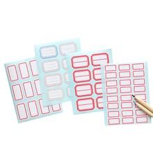 купить 1pack/lot Multi Adhesive Paper Scrapbook Sticker Blank Name Sticker Labels Stationery Reminder Seal Label онлайн