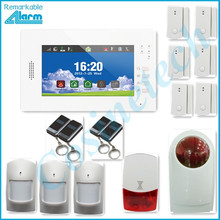 HOT SALES 868MHZ Smart home security alarm support IOS Android APP 7 inch touch screen GSM