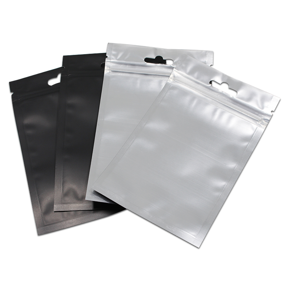 100pcs Lot Clear Front Black Resealable Zip Lock Plastic Storage Bag Retail Ziplock Poly Pouch With Hanging Hole Free Shipping In Bags From Home
