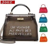 Прозрачная ПВХ-пленка сумки на плечо для женщин карамельный цвет гелевые сумки кошелек одноцветное sac основной femme сумка через плечо
