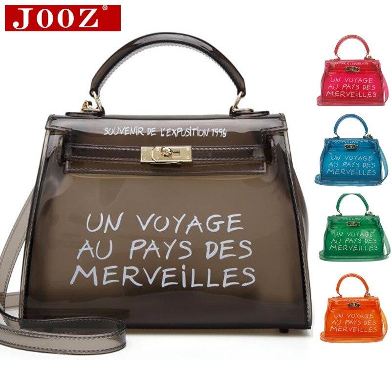 Claro transparente de PVC bolsas de hombro bolsas de mujer de Color caramelo jalea bolsas bolso de Color sólido bolsos saco principal mujer bolso bolsa