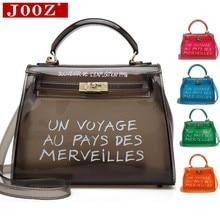 0381d88fa Claro transparente de PVC bolsas de hombro bolsas de mujer de Color caramelo  jalea bolsas bolso