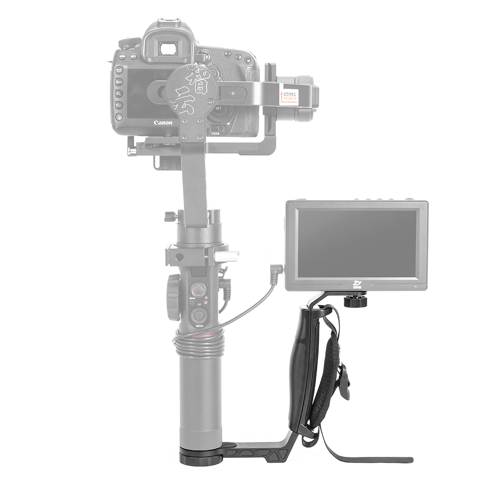 Zhiyun Crane 2 <font><b>gimbal</b></font> L bracket Mini Grip Handle Holder for LED Light/Microphone/Monitor for <font><b>FEIYU</b></font> <font><b>A1000</b></font> A2000 RONIN S Smooth 4 image