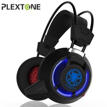 PLEXTONE Computer Wire Gaming Headphone Gaming Headset Over Ear casque gamer Game Headphone With Microphone Mic LED light for PC