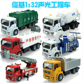 Urban Truck Series big size 35cm 1:32 car model kid toy Fire truck garbage truck Cement tanker pull back light sound Germany MAN