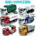 Urbano de Camiones de gran tamaño 35 cm 1:32 modelo de coche de juguete de niño camión de bomberos camión de basura camión cisterna De Cemento pull back light sound Alemania HOMBRE