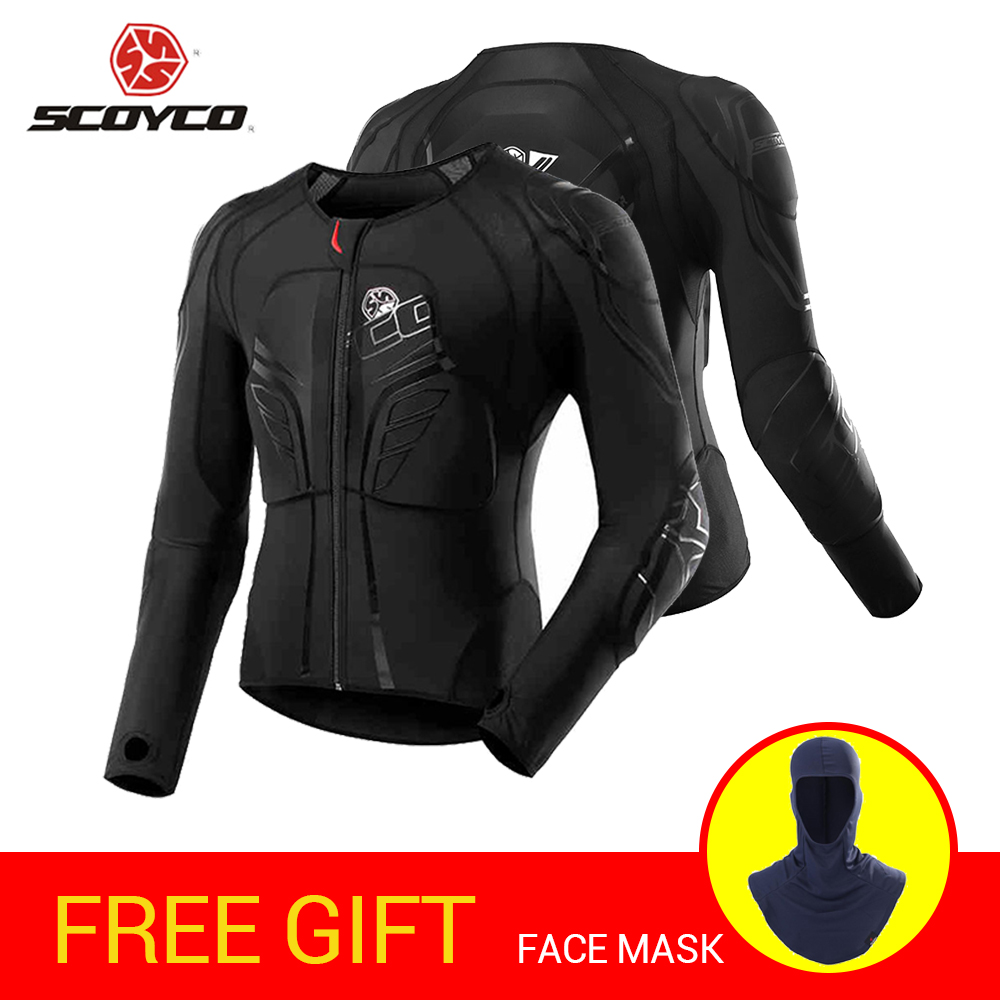 SCOYCO Motorcycle Jacket Motocross Protection Protective Gear Moto Jacket Motorcycle Armor Racing Body Armor Black Moto Armor scoyco am05 racing motorcycle body armor protector black size l