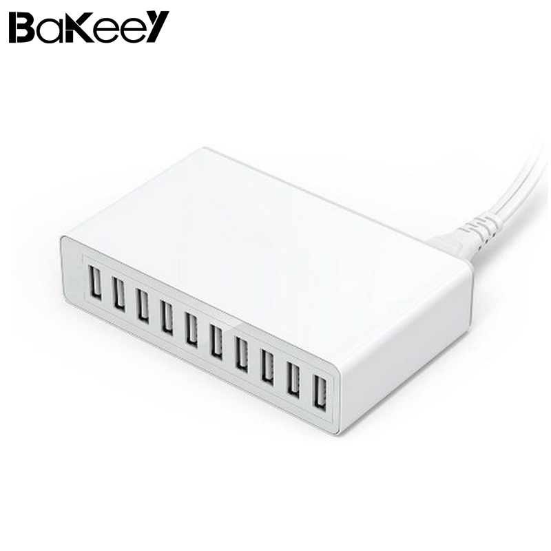 Bakeey EU Plug 10 Ports USB Charger Adapter Smart DeskTable wall Charging Mobile Phone Travel Quick Charge for Samsung Xiaomi 8