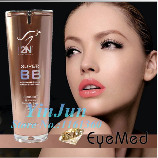 2n Super BB Whitening BB Cream sunscreen SPF37 PA++ faced foundation makeup full effect repair concealer bb cream 50ml free ship